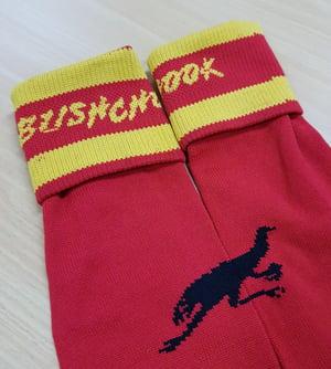 Image of Bushchook Red Footy Socks