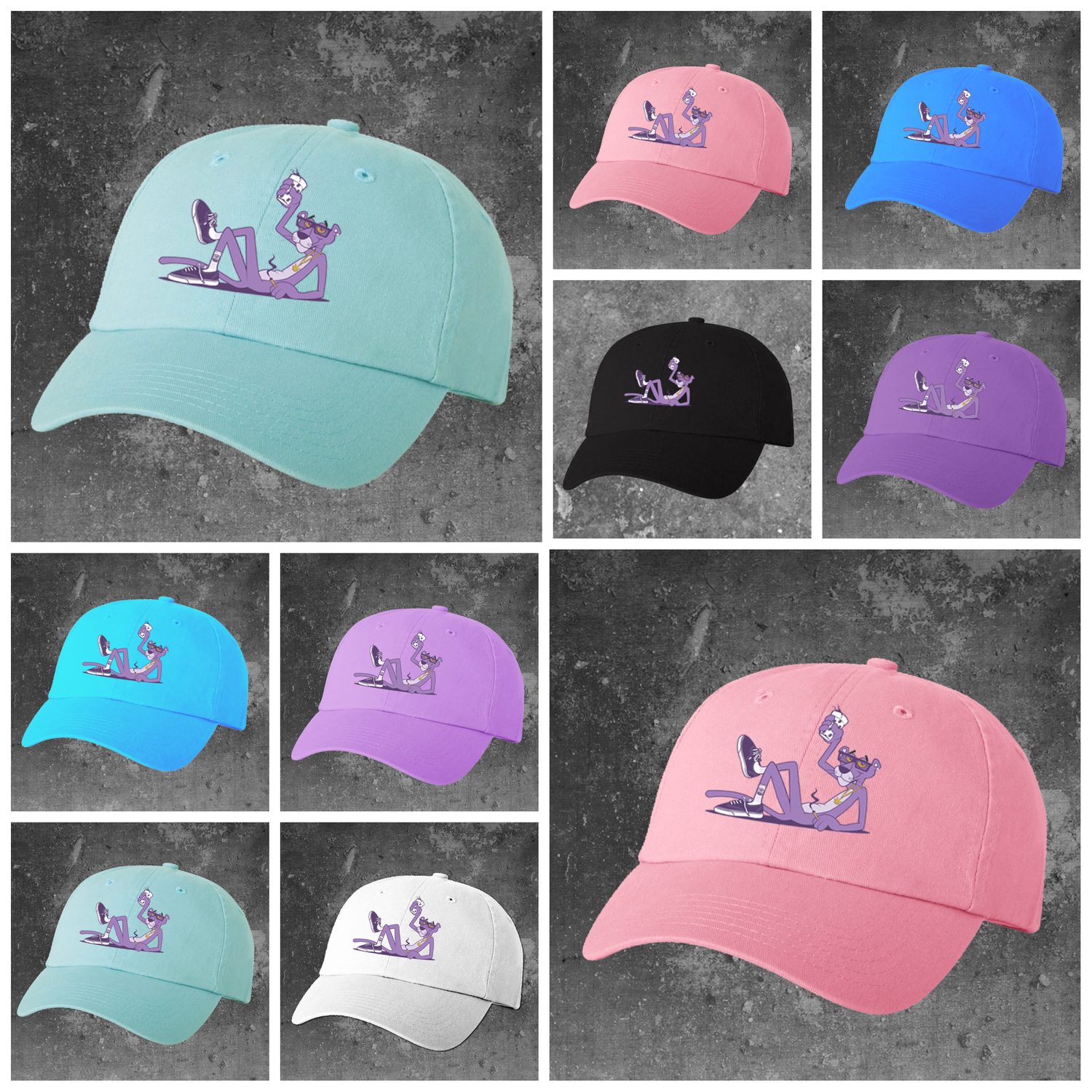 Image of  Purple Panther Dad Hats