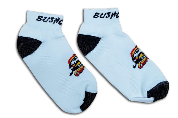 Image of Bushchook White Ankle Socks