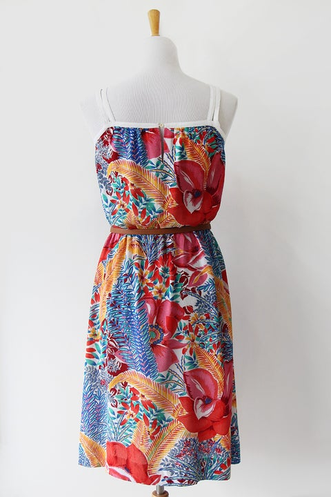 Image of SOLD Vibrant Tropical Sun Dress