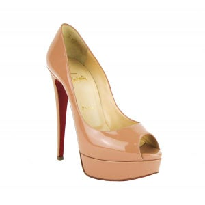 Image of PRE-OWNED: Christian Louboutin Lady Peep 150 Heels