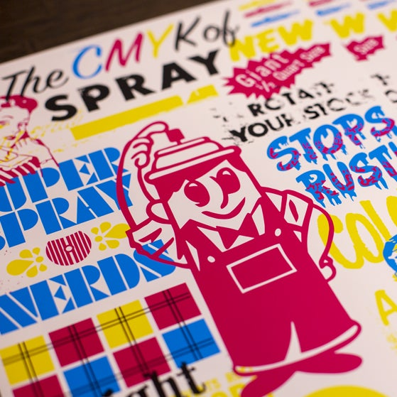 Image of The CMYK of Spray
