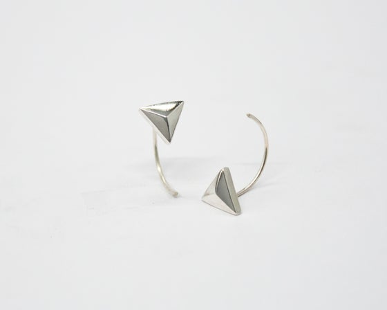 Image of Collection Miroir – Boucles d'oreilles Pyramide