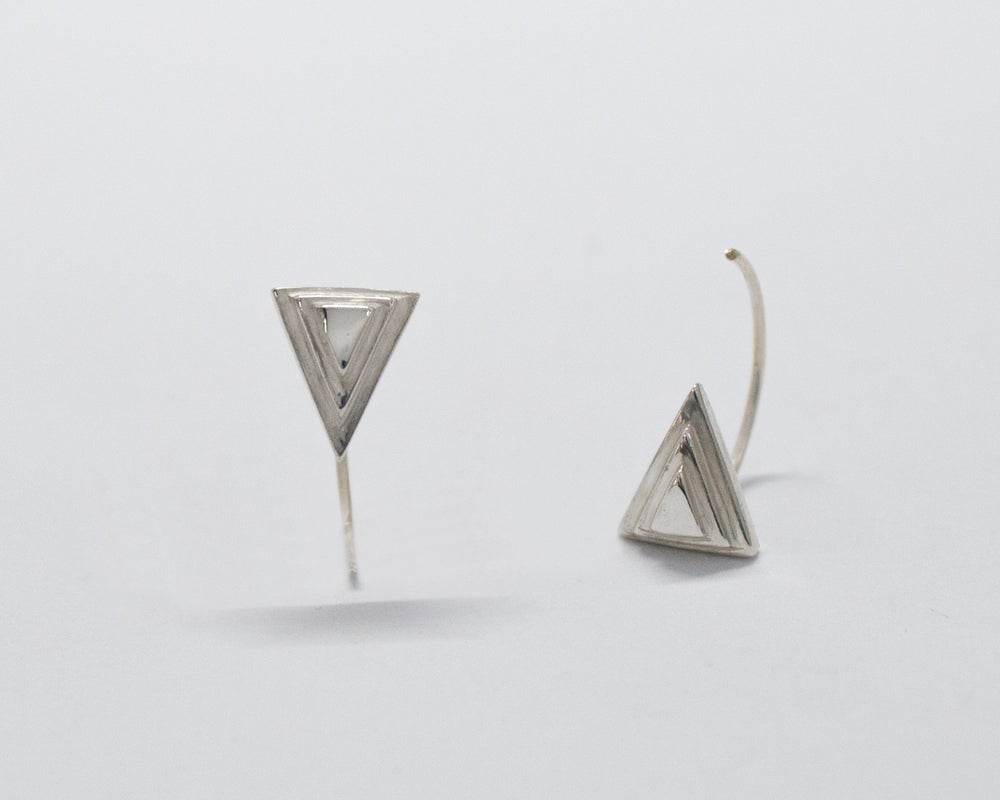 Image of Collection Miroir – Boucles d'oreilles Triangles