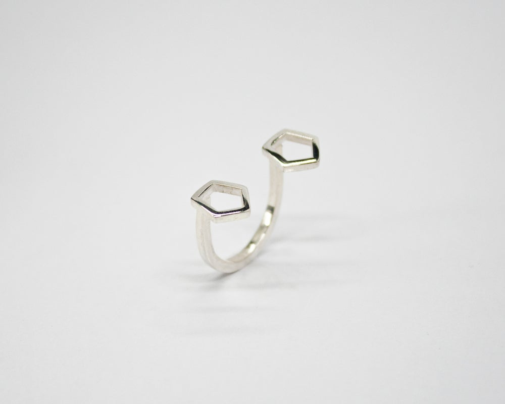 Image of Collection Miroir – Bague Pentagone