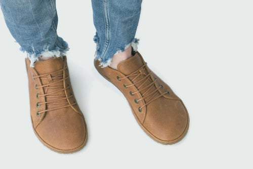 Image of Barefoot Sneakers in Caramel
