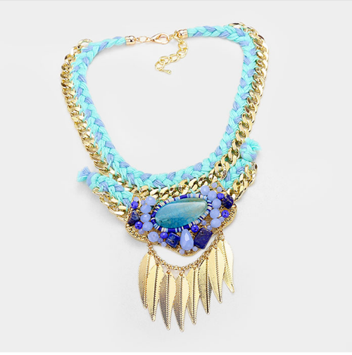 Image of Braided Feather Necklace