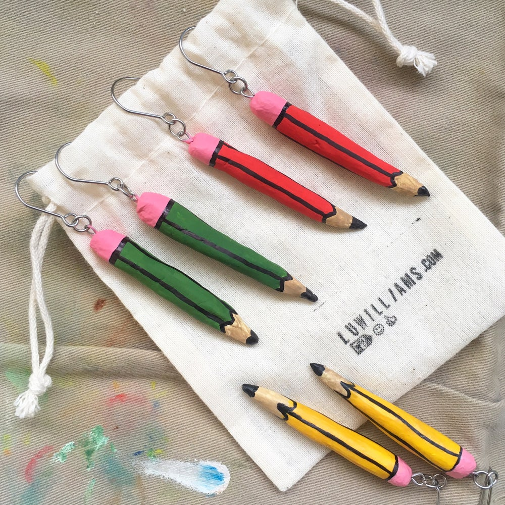 Image of Pencil Earrings