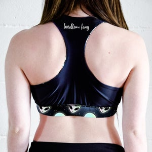 Image of Aliens Racer Back Sports Crop Top