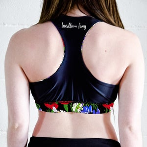 Image of Botanical Bees Reversible Sports Crop Top