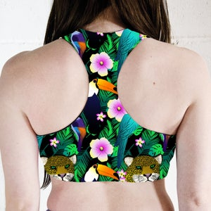 Image of Tropical Jungle Reversible Sports Crop Top