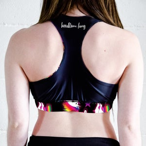 Image of Team Unicorn Reversible Sports Crop Top