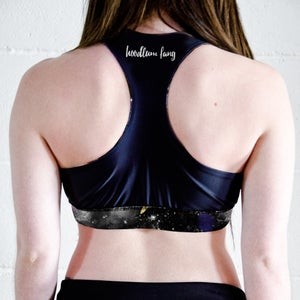Planet Space Racer Back Sports Crop Top