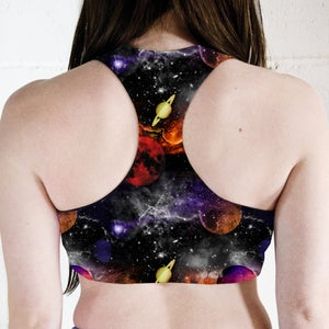 Image of Planet Space Racer Back Sports Crop Top