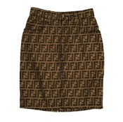 Image of PRE-OWNED: Vintage FENDI Zucca FF Logo Skirt