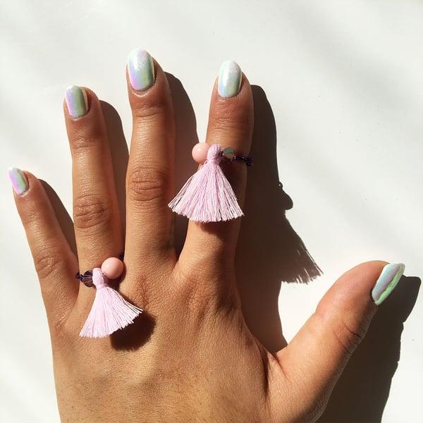 Image of Lilac Finger Tassels