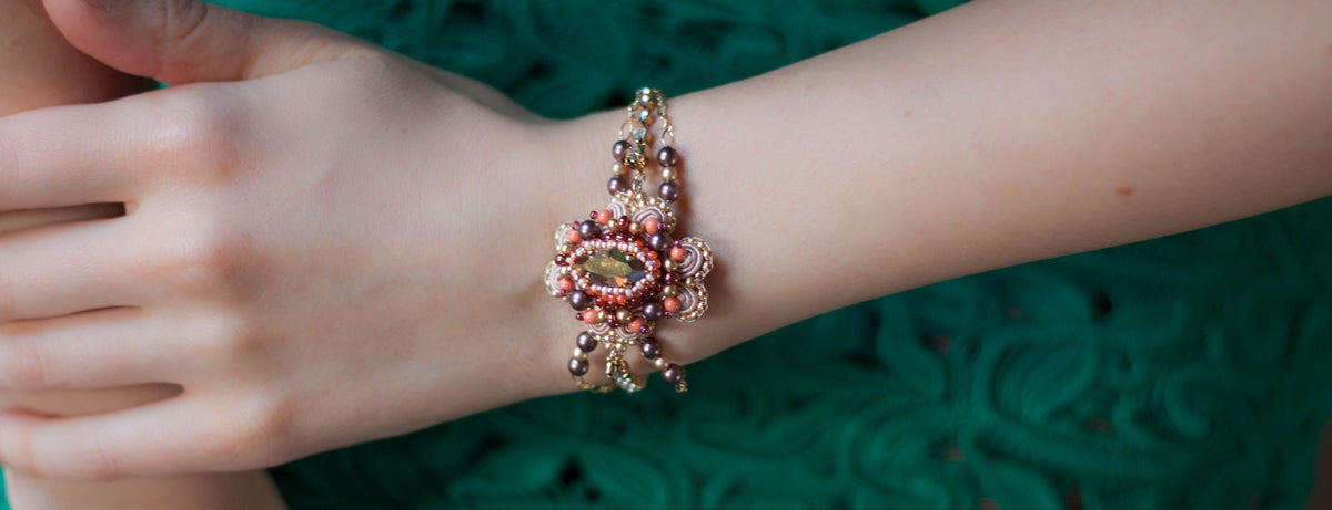 Image of Manhattan - Précieux Bracelet brodé