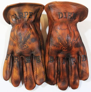 Image of Free Bird Double Sparrow custom gloves #9