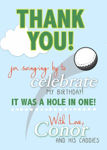 Image of Masters Golf Birthday Thank You card