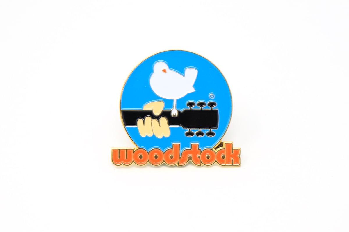 Woodstock Logo Rockin Pins