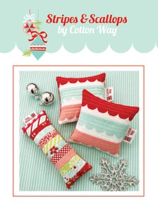 Image of Stripes and Scallops Pincushions PDF Pattern