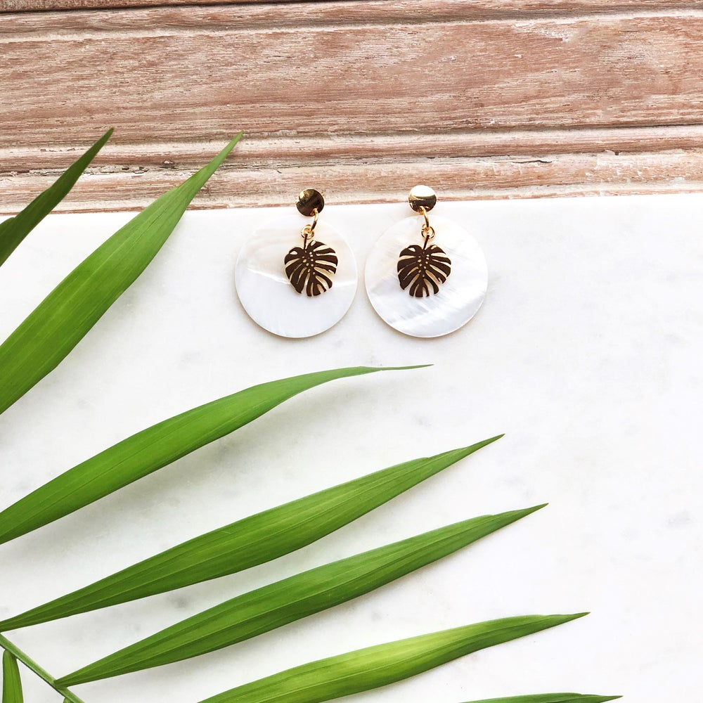 Image of Palm Shell Earrings