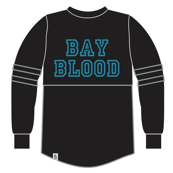 Image of Woman's College Shirt (Black/Teal)