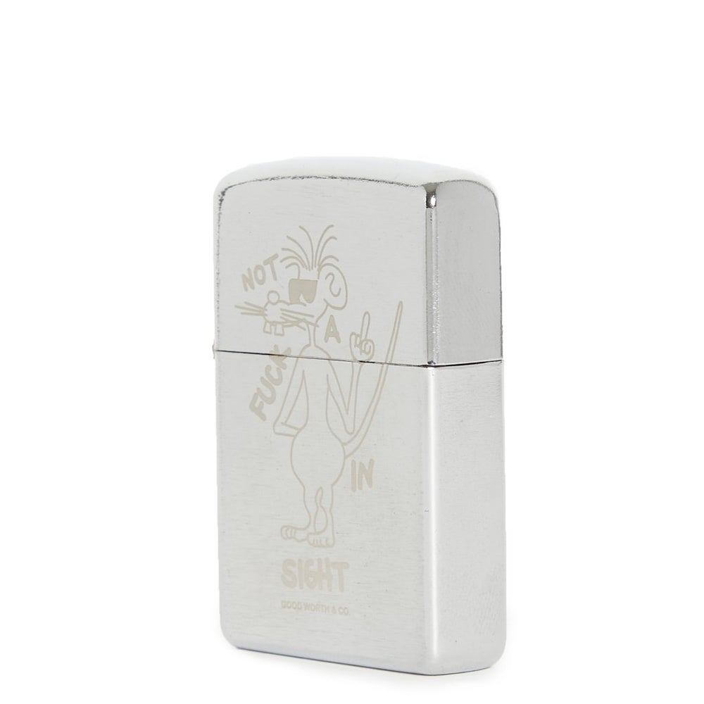 Image of GOOD WORTH & C0. - NOT A FUCK FLIP LIGHTER (NICKEL)