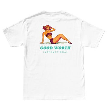 Image of GOOD WORTH & CO. - INTERNATIONAL TEE (WHITE)