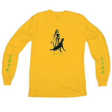 Image of GOOD WORTH & CO. - LOVE LINE LONGSLEEVE (MUSTARD)