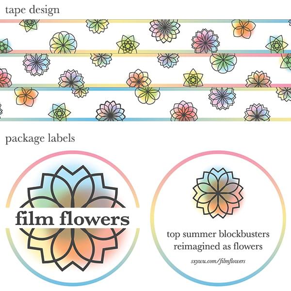 Image of film flowers washi tape