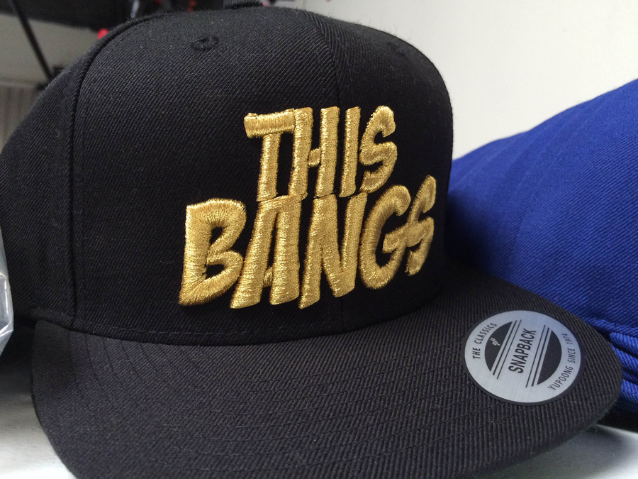 Image of This Bangs Logo SnapBack (Black & Gold)