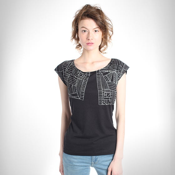 Image of BlackGeometric Bamboo T