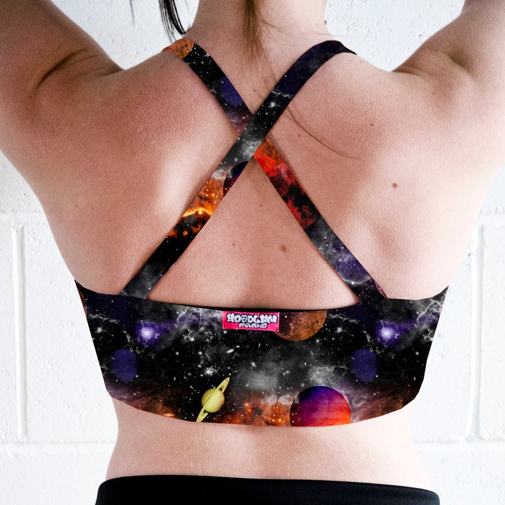 Image of Planet Space Cross Back Crop Top