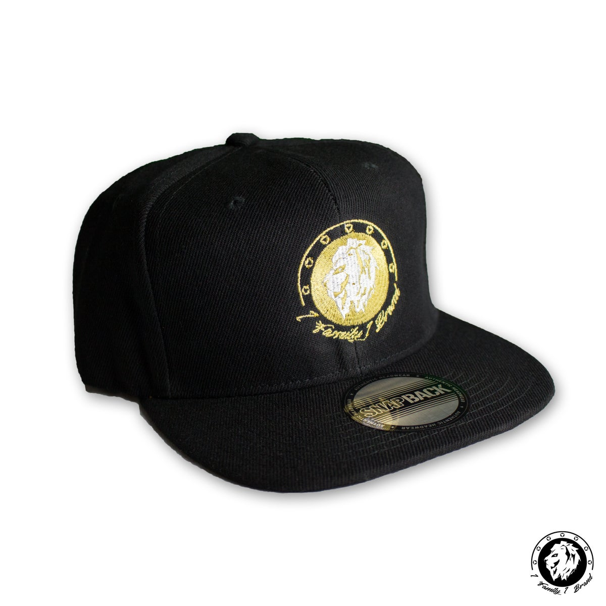 Image of Snapback (Black/White/Gold)