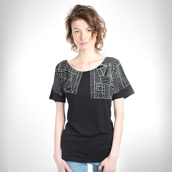 Image of BlackGeometric Tencel T