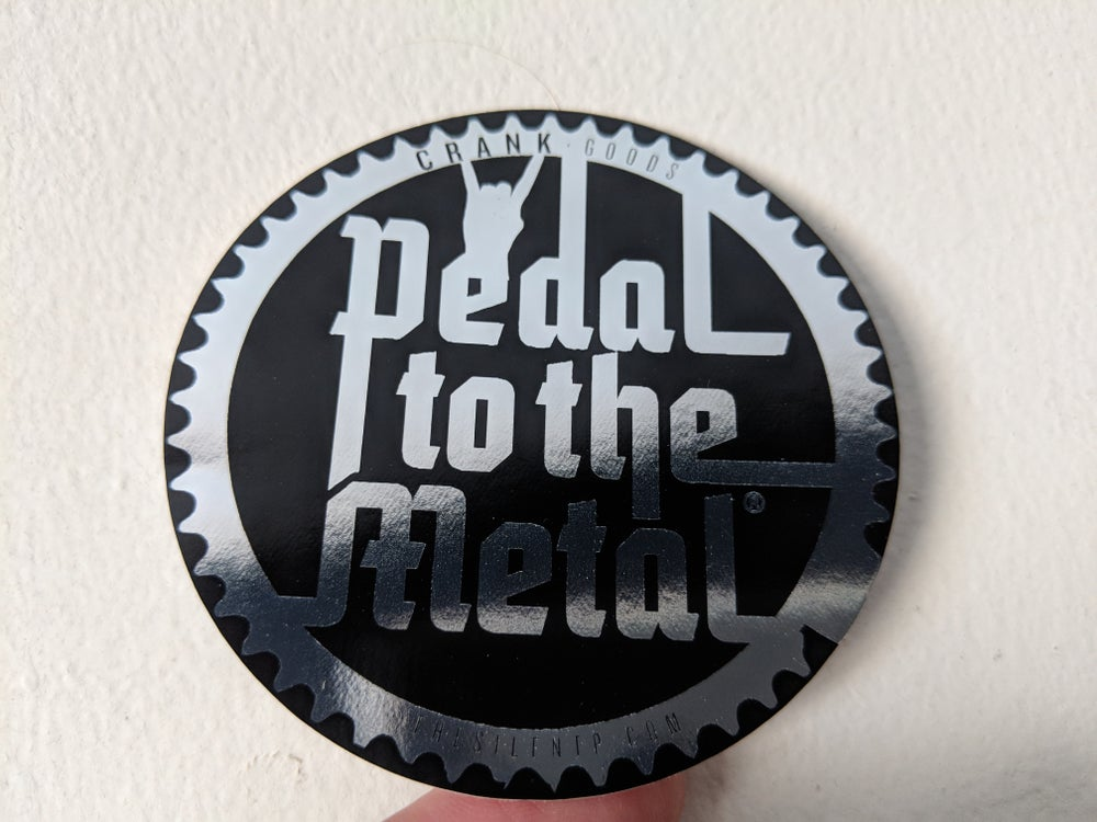 'Pedal To The Metal' Chrome reflective vinyl sticker