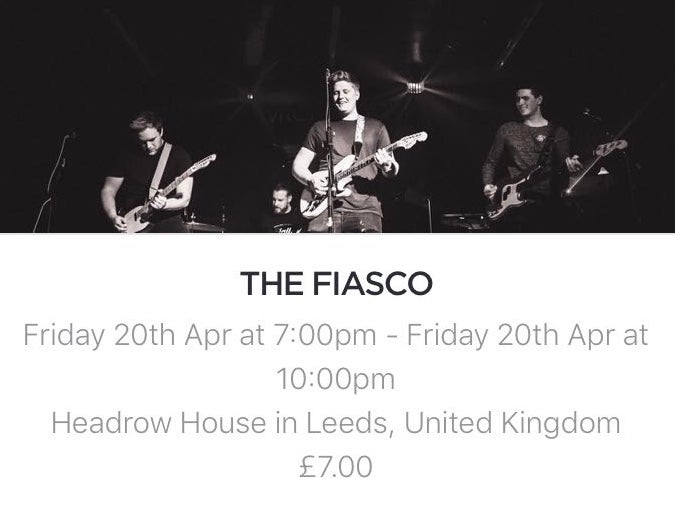 Image of Tytania Live supporting The Fiasco at Headrow House Leeds 20/4/18