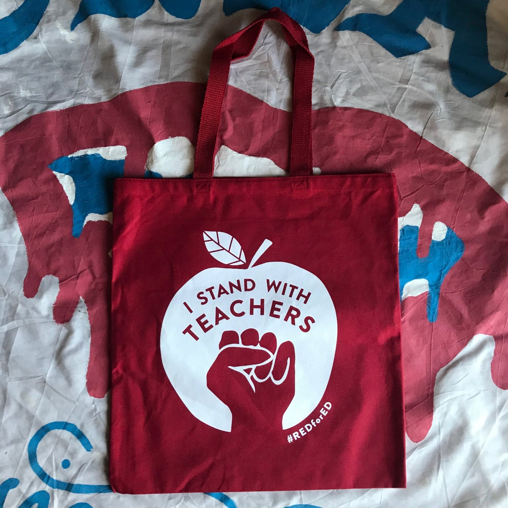 Image of RED FOR ED TOTE BAG