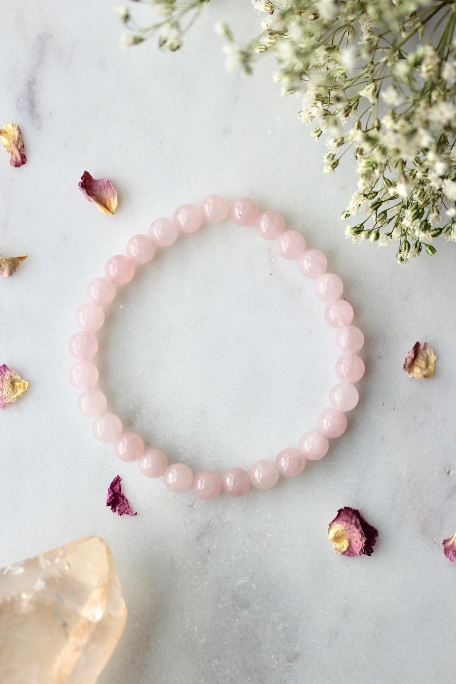 Image of Rose Quartz Stacking Bracelet