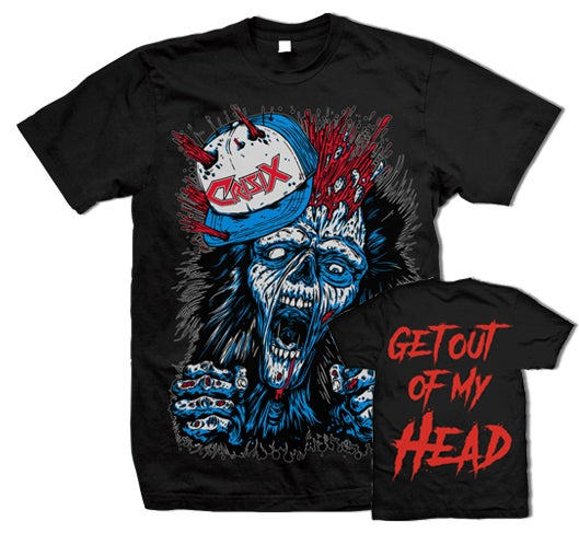 Image of 'Get Out Of My Head' Black Tee