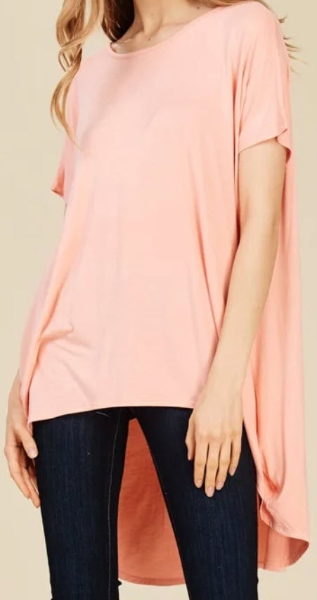 Image of Peach Dolman Top *Curvy