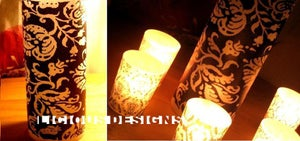 Image of Vellum Luminary - Wild Damask 8""