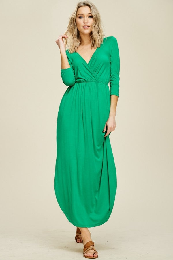 Image of Miranda Green Wrap Dress