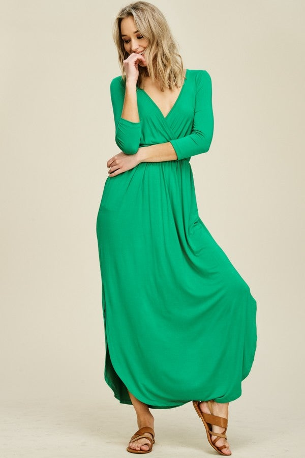 Image of Miranda Green Wrap Dress