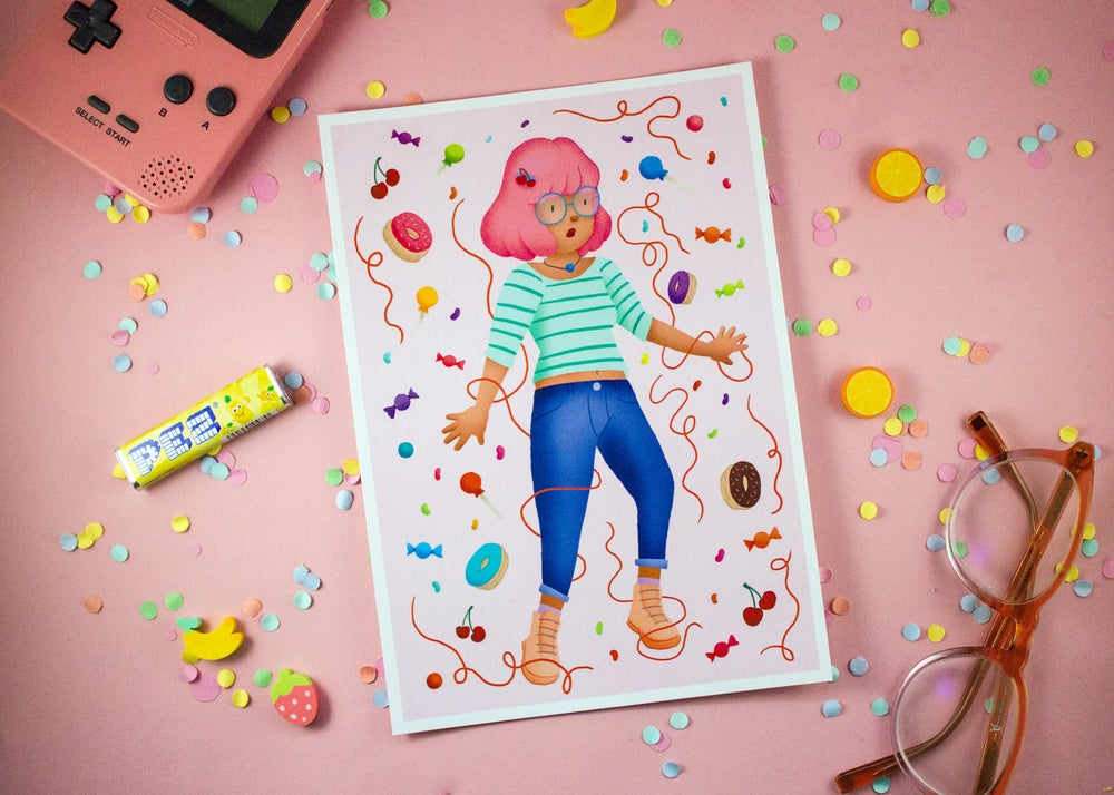Image of Candy Girl - Mini Print