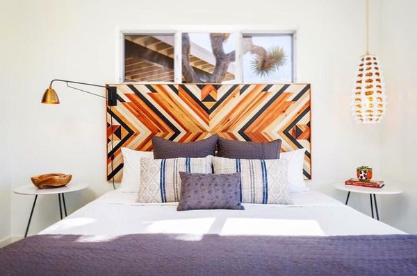 Image of Chevron Headboard 4ft X 2ft