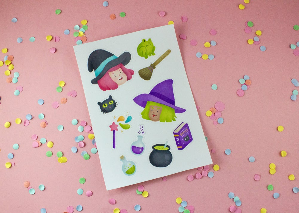 Image of Little Witches sticker sheet