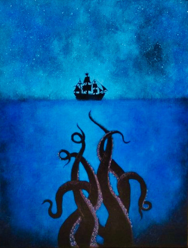 Image of Pop up Paint Night : Creature from the deep 7 -9pm Thursday May 3rd