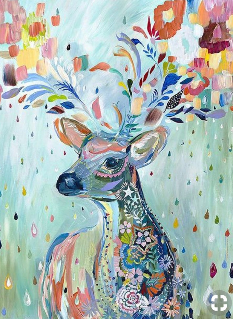 Image of Pop up Paint Night : Friday 27 September 7 -9pm Floral Deer